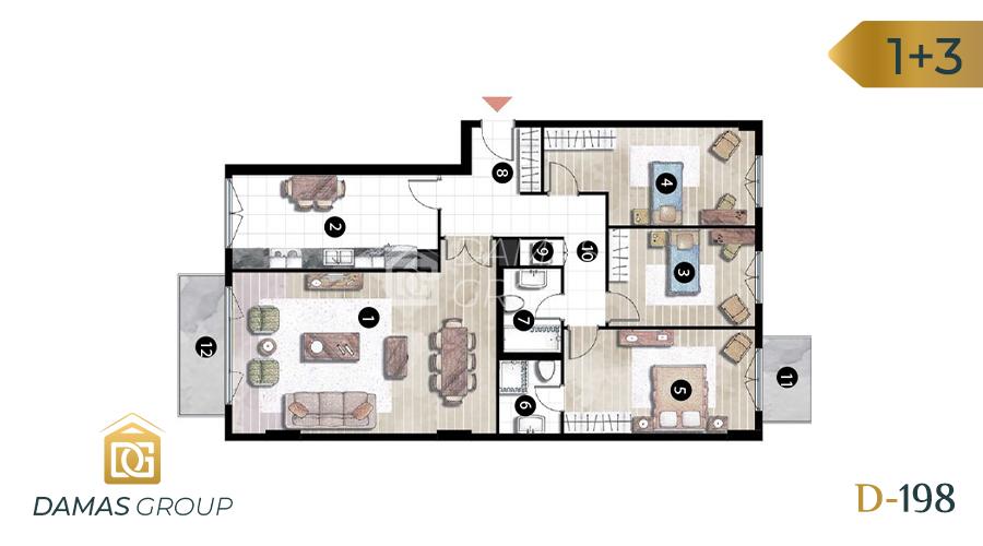 Damas Project D-198 in Istanbul - Floor Plan 04
