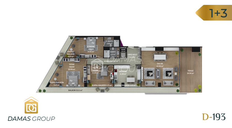 Damas Project D-193 in Istanbul - Floor Plan 06