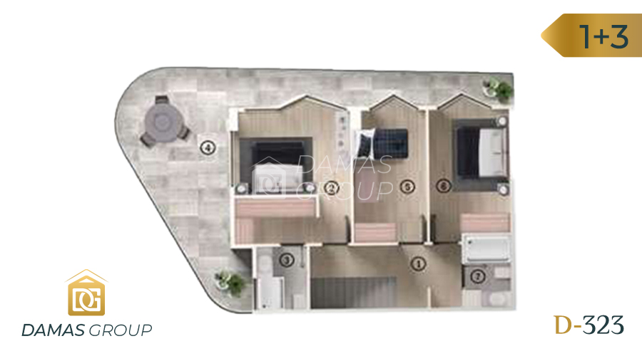 Damas Project D-323 in Bursa - Floor Plan 03