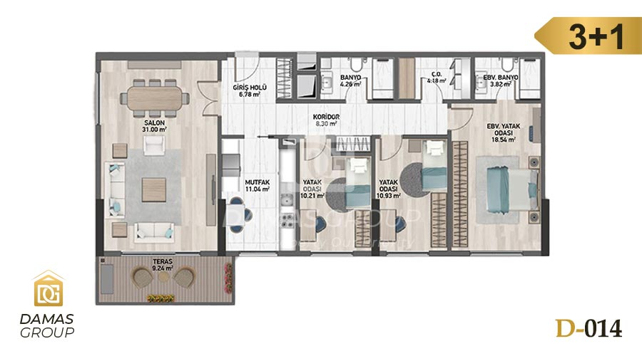 Damas Project D-014 in Istanbul - Floor Plan 04