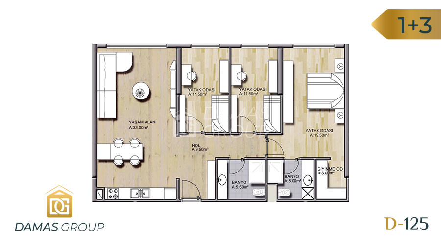 Damas Project D-125 in Istanbul - Floor Plan 03