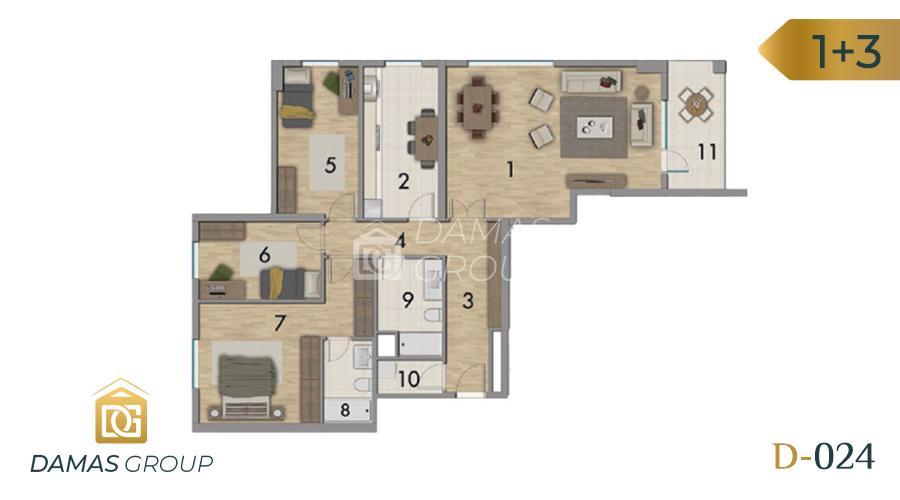 Damas Project D-024 in Istanbul - Floor Plan 02