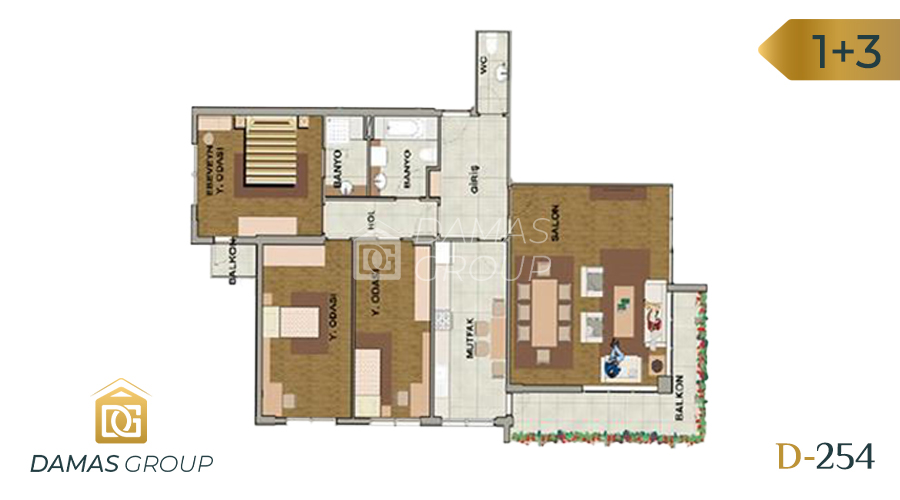 Damas Project D-254 in Istanbul - Floor Plan 03