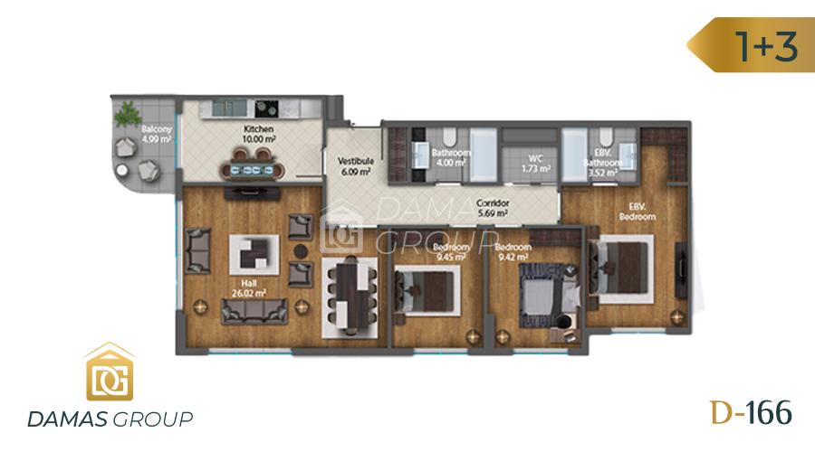 Damas Project D-1661 in Istanbul - Floor Plan 04