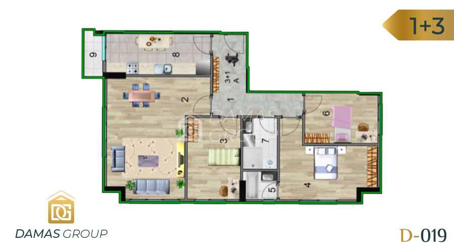 Damas Project D-019 in Istanbul - Floor Plan 04