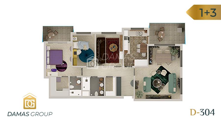 Damas Project D-304 in Bursa - Floor Plan 02