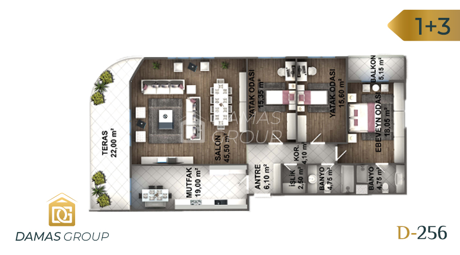 Damas Project D-256 in Istanbul - Floor Plan 04