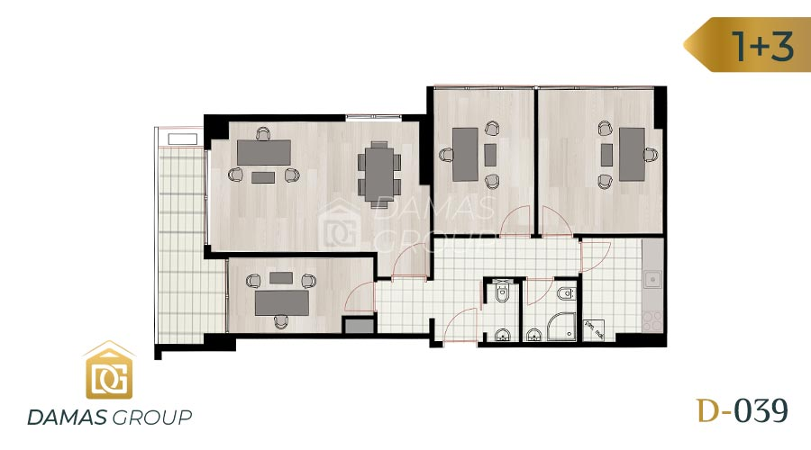 Damas Project D-039 in Istanbul - Floor Plan 04