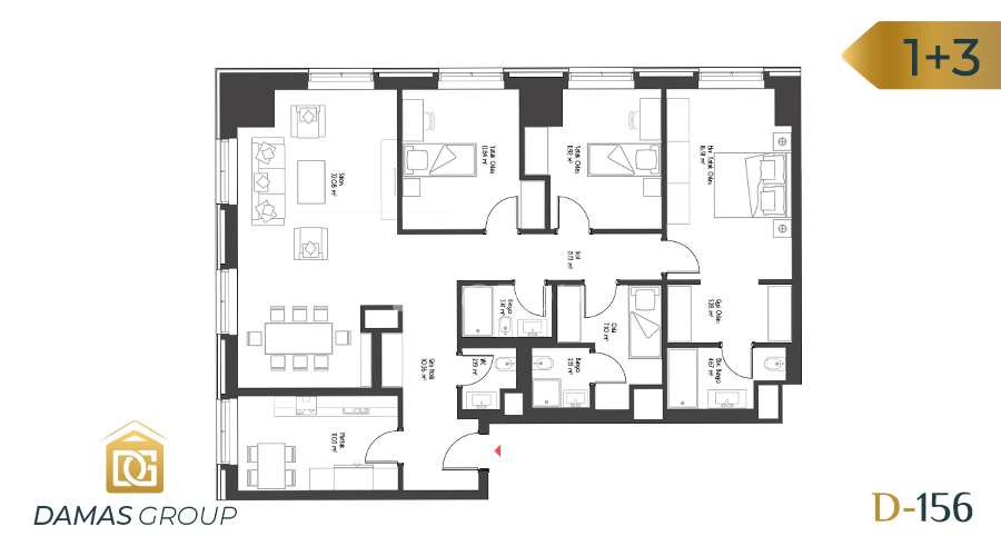 Damas Project D-156 in Istanbul - Floor Plan 04