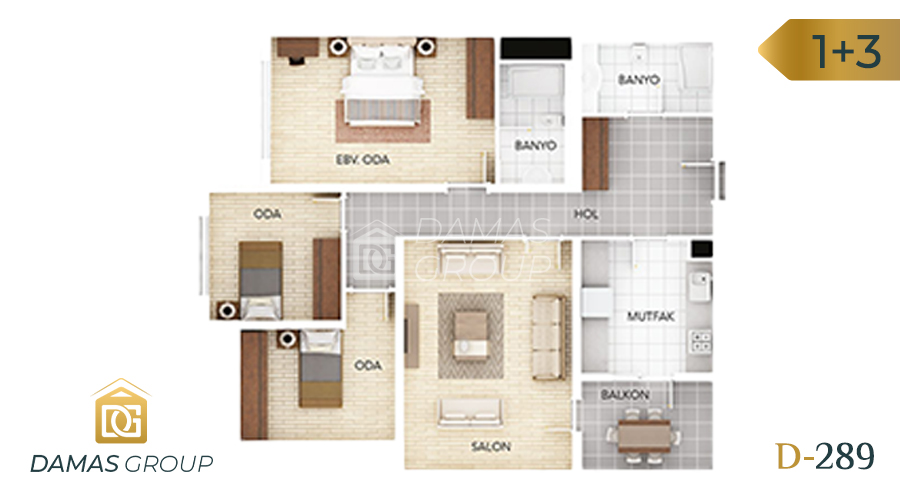 Damas Project D-289 in Istanbul - Floor Plan 03