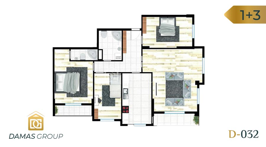 Damas Project D-032 in Istanbul - Floor Plan 04
