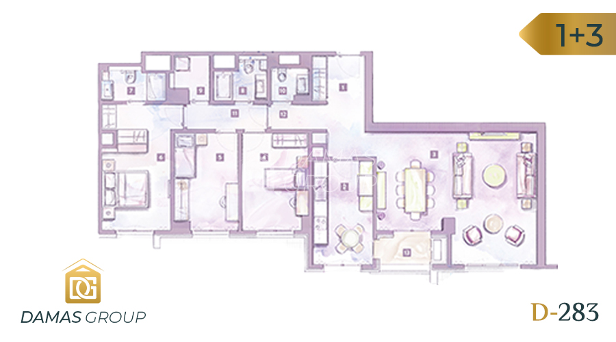 Damas Project D-283 in Istanbul - Floor Plan 04