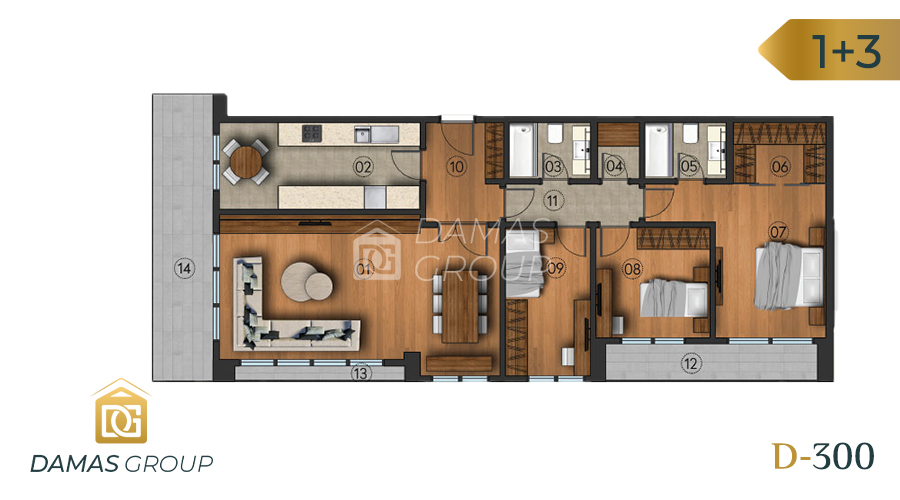 Damas Project D-300 in Istanbul - Floor Plan 03