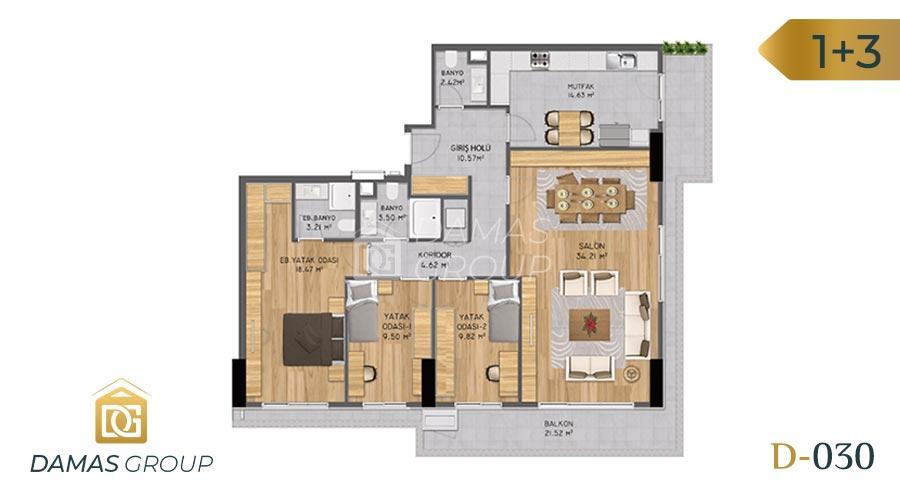 Damas Project D-030 in Istanbul - Floor Plan 05
