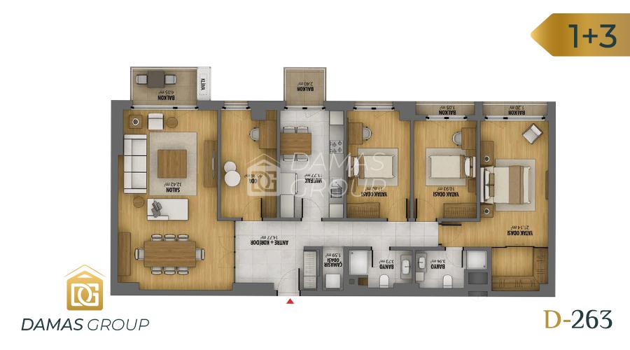 Damas Project D-263 in Istanbul - Floor Plan 03