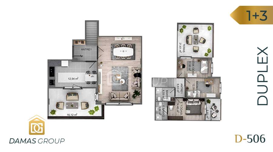مجمع داماس 506 في كوجالي  - صورة مخطط 01