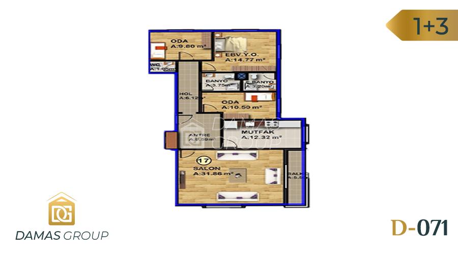 Damas Project D-071 in Istanbul - Floor Plan 03