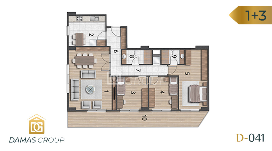 Damas Project D-041 in Istanbul - Floor Plan 06
