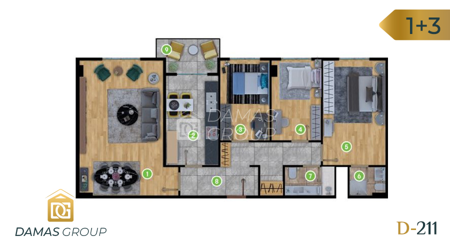 Damas Project D-211 in Istanbul - Floor Plan 02