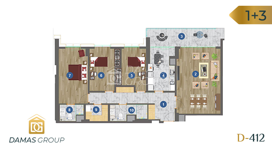 Damas Project D-412 in Trabzon - floor plan 01