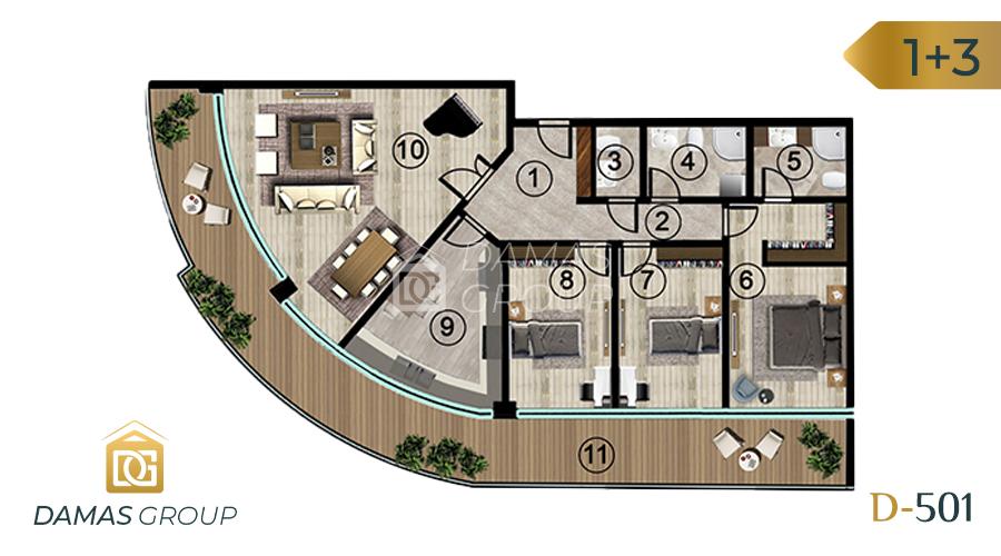 Damas Project D-501 in kocali - Floor Plan 05