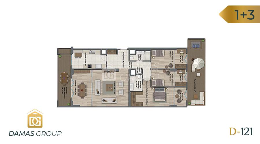 مجمع داماس 121 في اسطنبول  - صورة مخطط 04