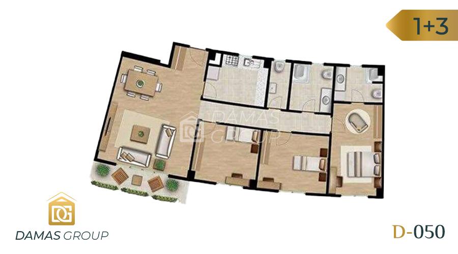 Damas Project D-050 in Istanbul - Floor Plan  02
