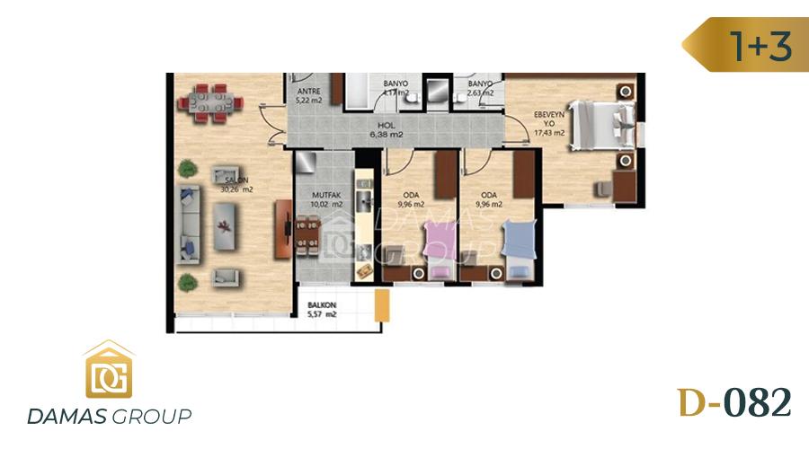 Damas Project D-082 in Istanbul - Floor Plan 02