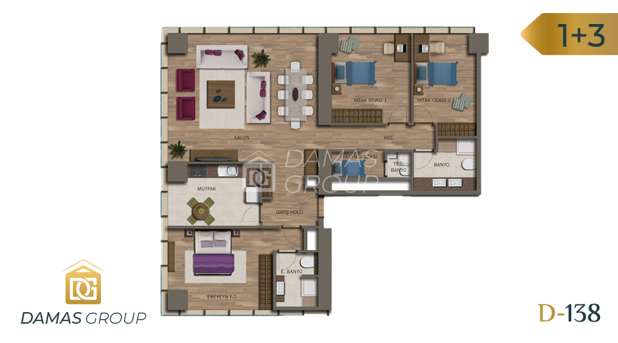 Damas Project D-138 in Istanbul - Floor Plan 04