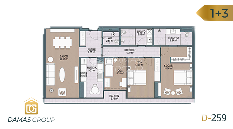 Damas Project D-259 in Istanbul - Floor Plan 05
