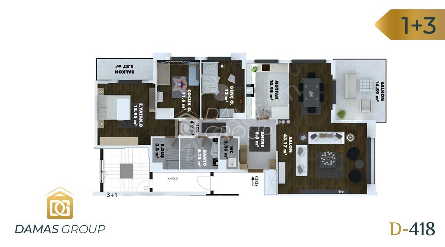 مجمع داماس 418 في طرابزون  - صورة مخطط 01