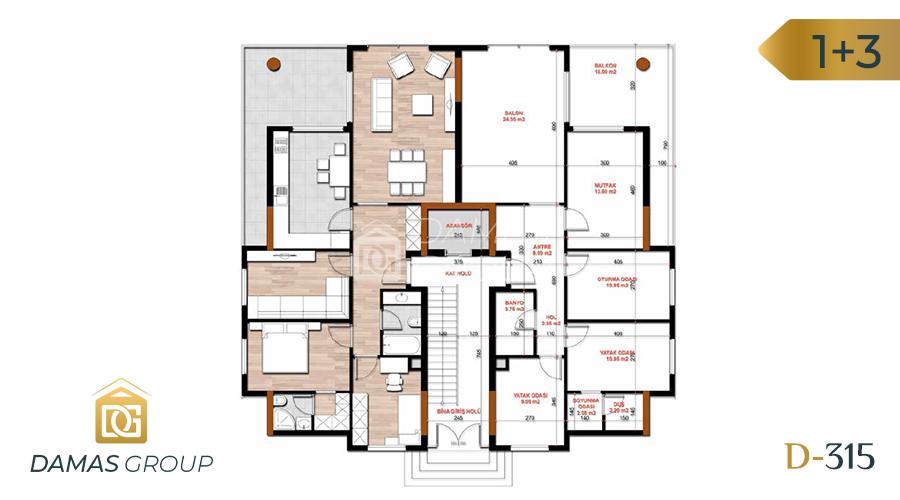 مجمع داماس 315 في بورصة  - صورة مخطط 02