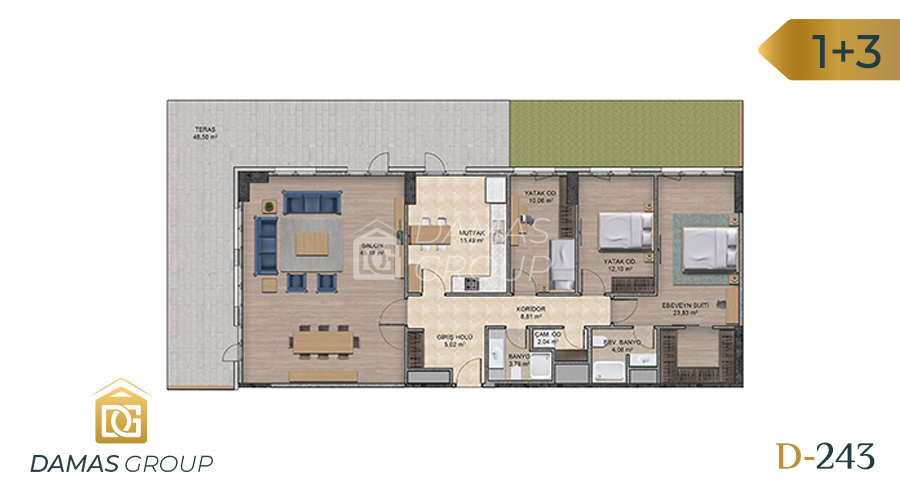 Damas Project D-243 in Istanbul - Floor Plan 05