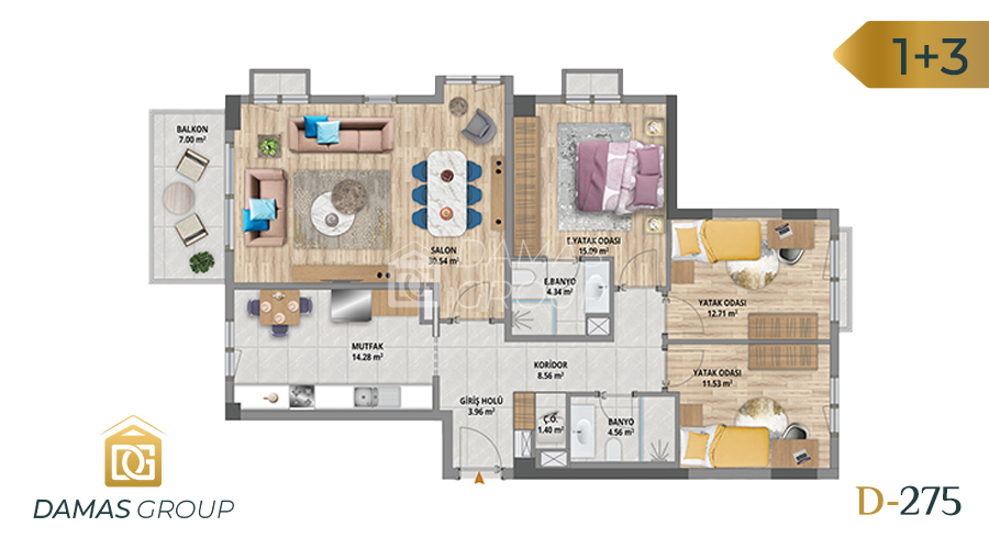 Damas Project D-275 in Istanbul - Floor Plan 03