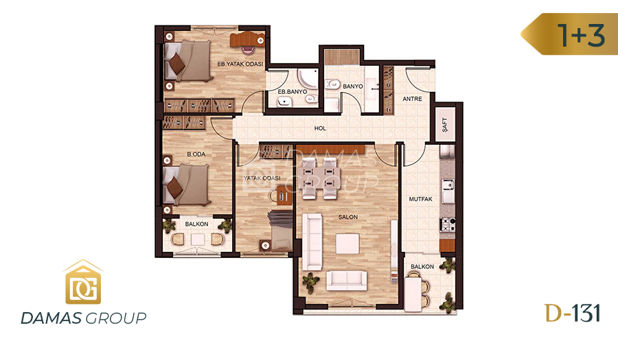 Damas Project D-131 in Istanbul - Floor Plan 03