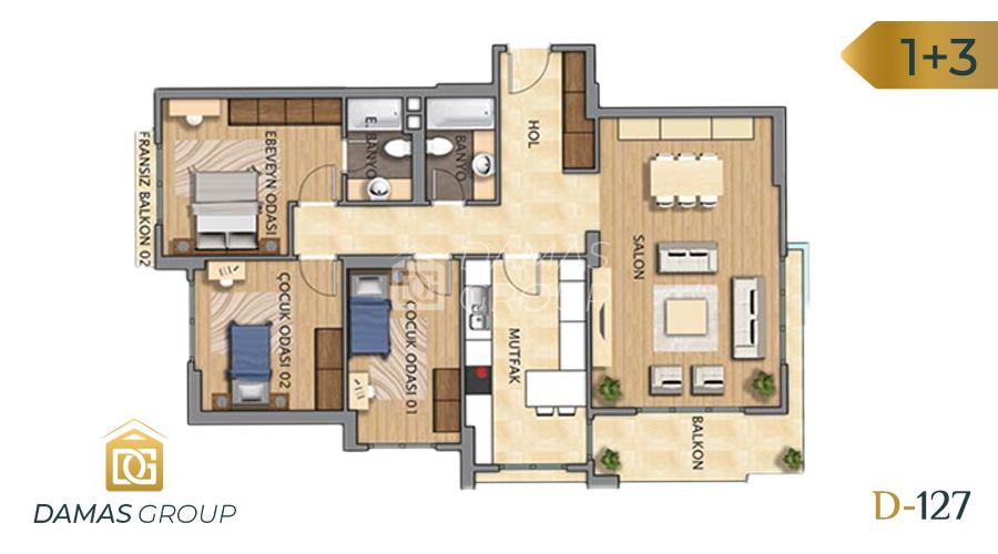 Damas Project D-127 in Istanbul - Floor Plan 04