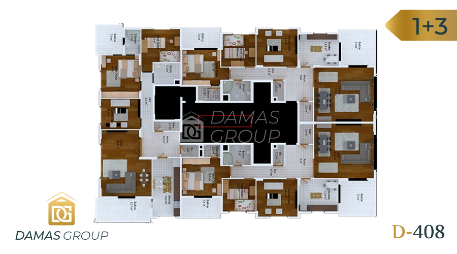 Damas Project D-408 in Trabzon - Floor Plan 03