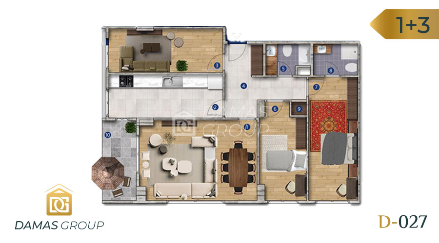 Damas Project D-027 in Istanbul - Floor Plan 05