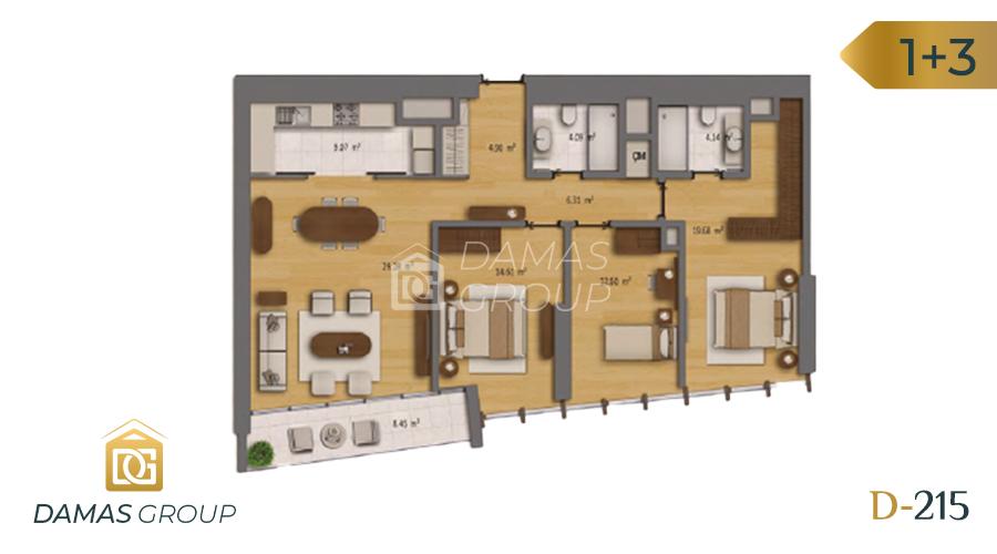 مجمع داماس 215 في اسطنبول  - صورة مخطط 04