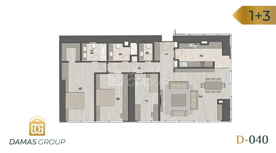 Damas Project D-040 in Istanbul - Floor Plan 03