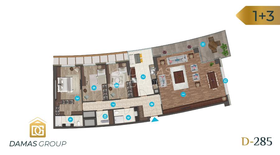 مجمع داماس 285 في اسطنبول  - صورة مخطط 02