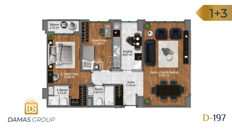 Damas Project D-197 in Istanbul - Floor Plan 03