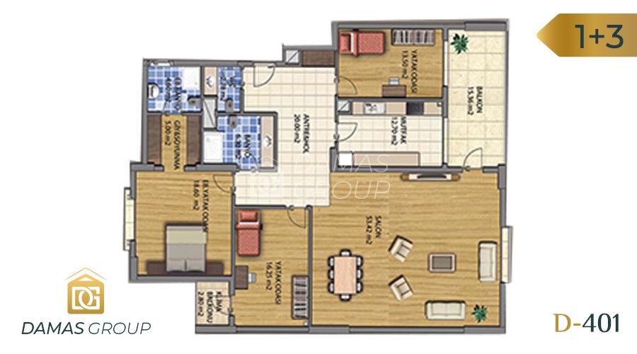 مجمع داماس 401 في طرابزون  - صورة مخطط 03