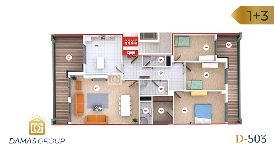 Damas Project D-503 in kocali - Floor Plan 02