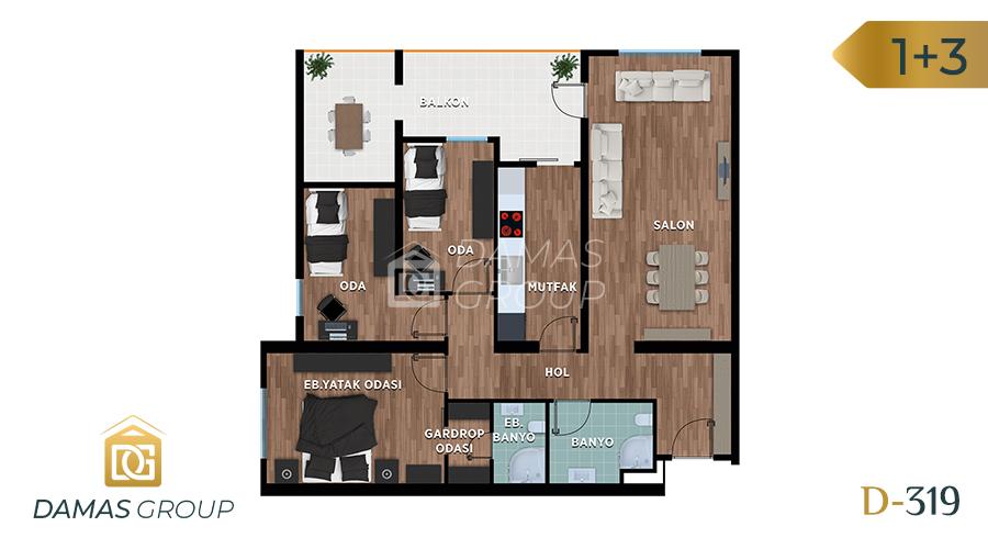 مجمع داماس 319 في بورصة  - صورة مخطط 03