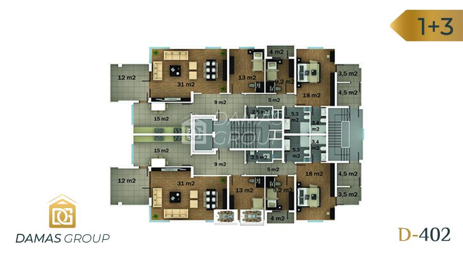 مجمع داماس 402 في طرابزون  - صورة مخطط 01