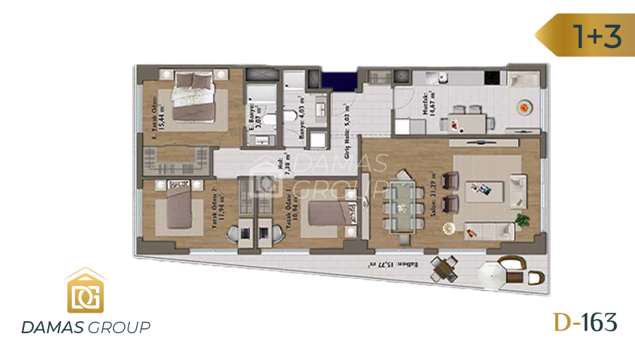Damas Project D-163 in Istanbul - Floor Plan 05