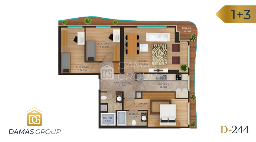 Damas Project D-244 in Istanbul - Floor Plan 04
