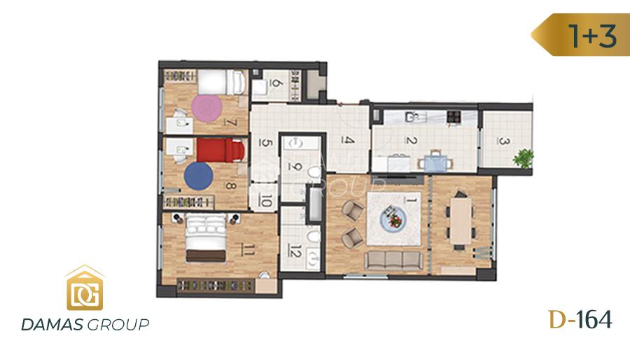 Damas Project D-1641 in Istanbul - Floor Plan 03