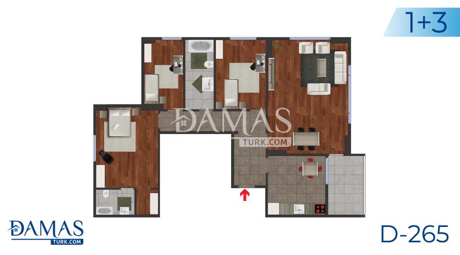 مجمع مجموعة داماس 265 في اسطنبول - صورة مخطط 03